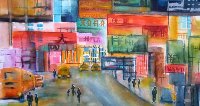 Aquarell Städte: Chinatown  (唐人街