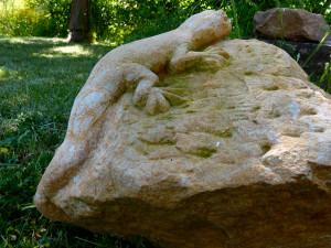 Manchmal muss es Stein sein- Eidechse