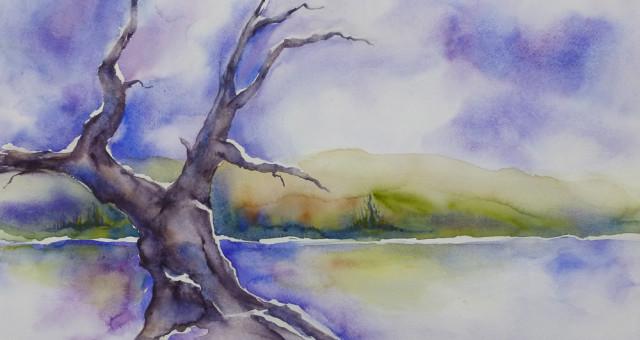 Aquarell Landschaft: So tun als ob…..