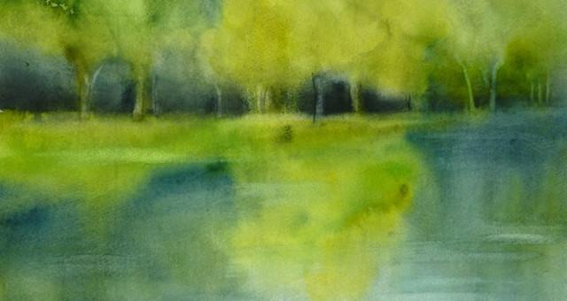 Aquarell Landschaft: Umwege…….