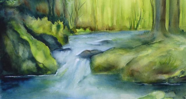 Aquarell Landschaft: Vom wundern…..