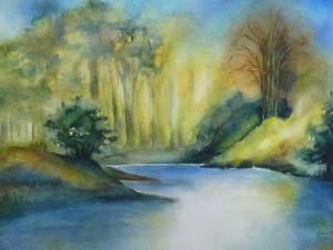 Warm malen - Waldlandschaft