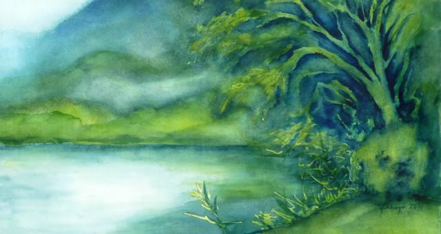 Aquarell Landschaft: Zwischenzeitlich….
